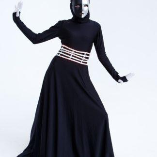 Черный комбинезон с маской №4