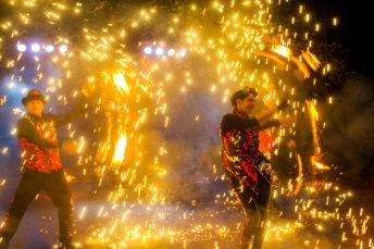 Огненное шоу Jazz Fire